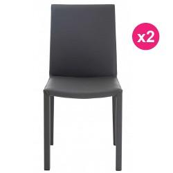 Lot de 2 Chaises Design Grises KosyForm