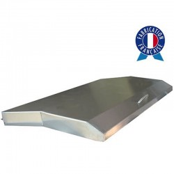 Cover all Inox for griddle gas Trio or Triad gas 3 lights