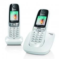Gigaset Telephone sans Fil Duo Blanc C620 avec Ecran