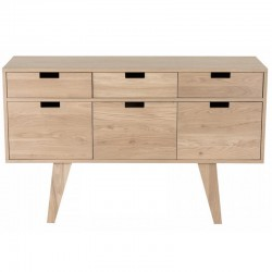 Buffet in oak 3 door 3 drawers Puper KosyForm