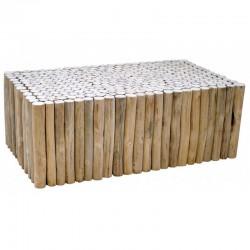 Low log cabin KosyForm teak table