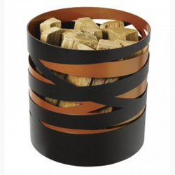 Storage in wood Ribbon frosted black and copper Dixneuf Design