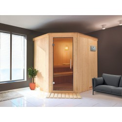 Sauna steam angular Zen 3-4 seats - Selection VerySpas