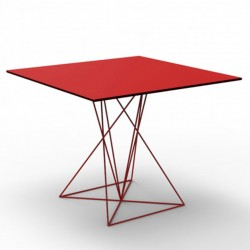 Table FAZ Vondom stainless steel red 100x100xH72