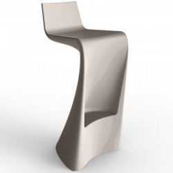 Bar stool wing Vondom taupe Matt