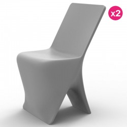 Set of 2 chairs Vondom design Sloo Grisr