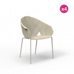 Lot de 4 chaises Vases Vondom Ecru