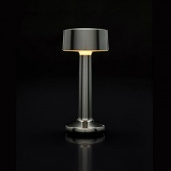 Table Light Imagilights Led Wireless Collection Moments Cadet Grey Cylindre
