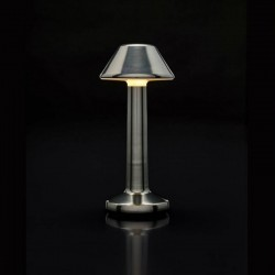 Table Light Imagilights Led Wireless Collection Moments Cadet Grey Cone