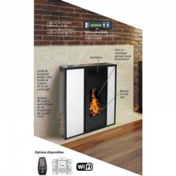Etanche 10Kw Interstoves Remote Control Tessa White