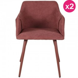 Lot de 2 Fauteuils Rouge Velours Lov KosyForm