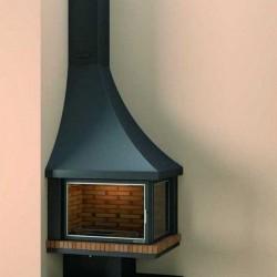 Angle FocGrup Steel Anthracite 11kW Left Vitré 55