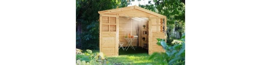 花园和存储的棚子